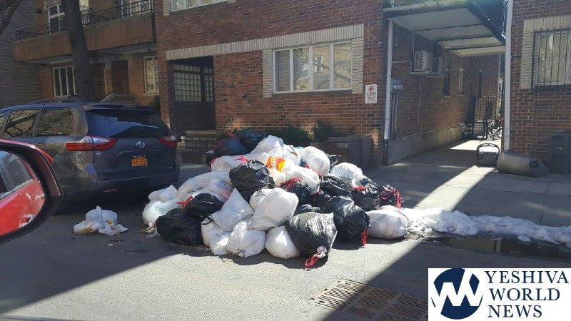 Greenfield and City Hall Team Up to Clean Backed Up Boro Park Garbage