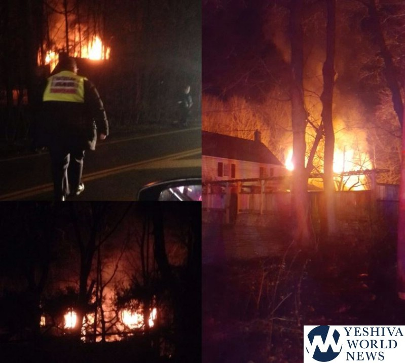 VIDEO AND PHOTOS: Fire Destorys Home In Monsey