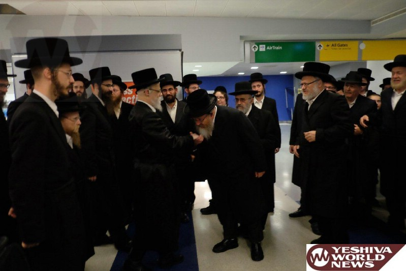 Photo Essay: The Seret Visnitz Rebbe Arriving In NY For A Visit (Photos by JDN)