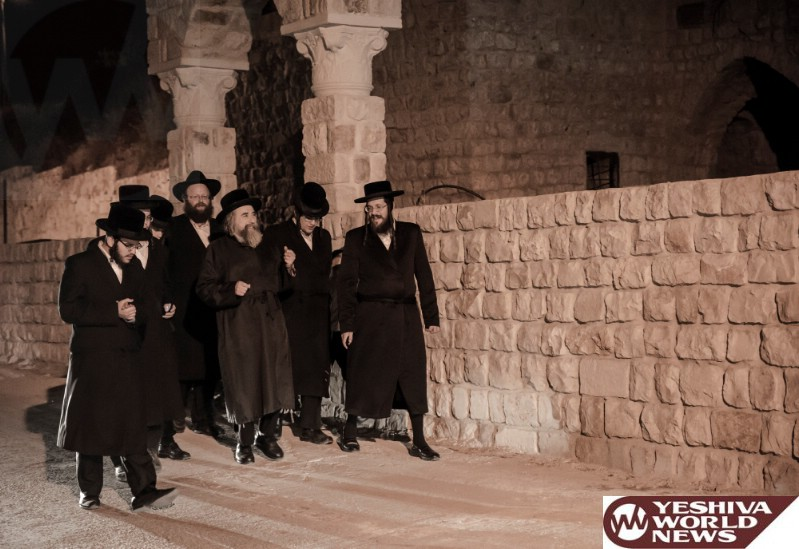 Photo Essay: The Rachmetsrivka Rebbe Visiting Tzefas (Photos by JDN)