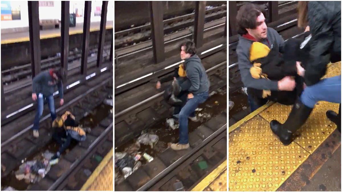 Subway Hero Rescues Man From L Train Tracks