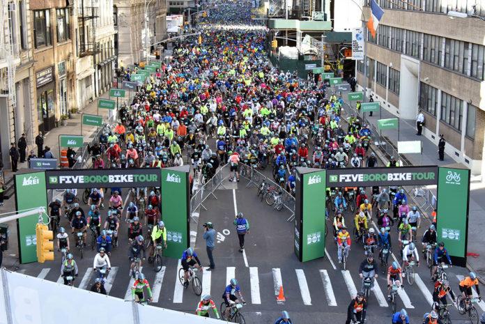 Bike Race On Staten Island