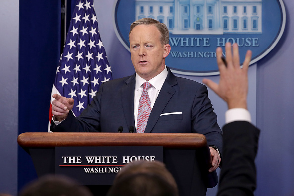 Spicer delivers first press briefing since shakeup announcement