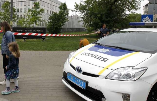 Explosive device detonates in grounds of USA embassy in Kiev