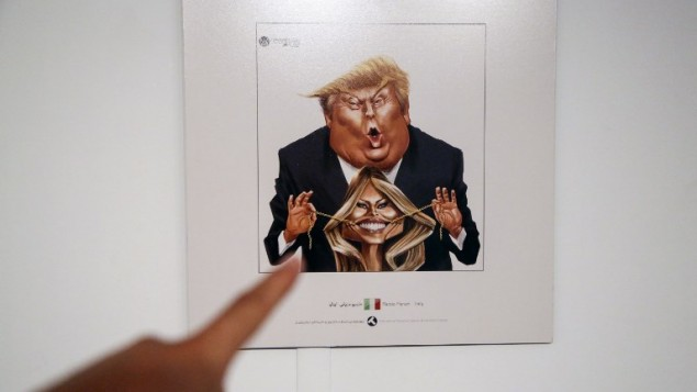 Iranian, Greek artists win top prizes at Trumpism cartoon contest