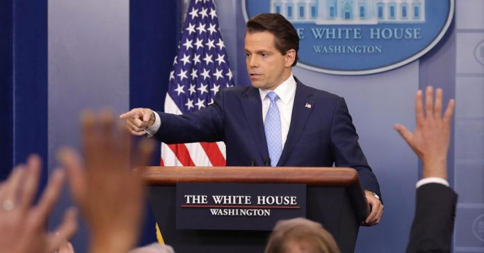 War in the West Wing as Scaramucci turns on Trump chief