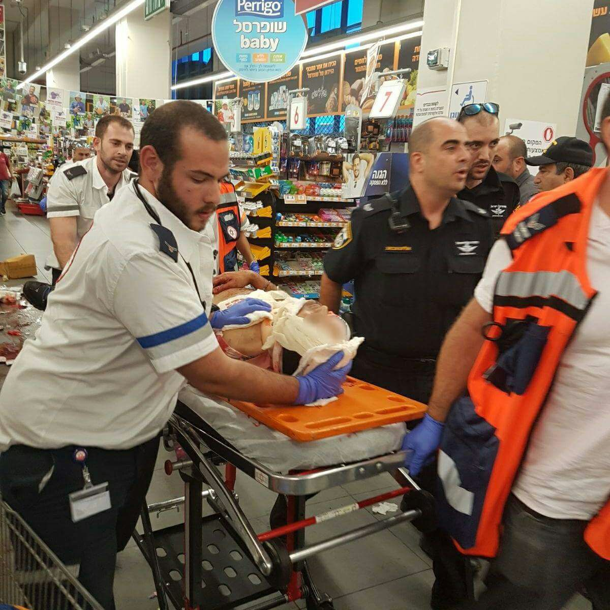 Palestinian stabs Israeli in supermarket attack