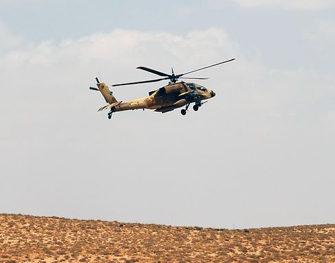 Pilot killed in Apache helicopter crash in southern Israel