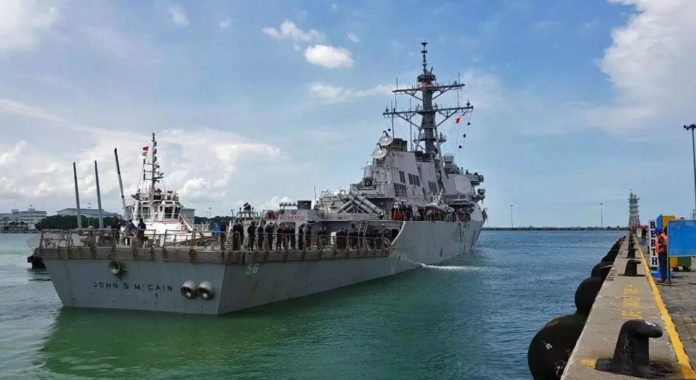Navy: USS John S. McCain collides with merchant vessel