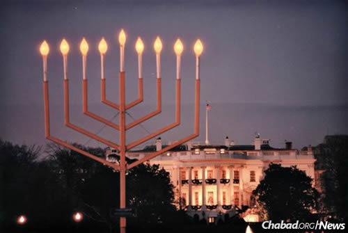 Hanukkah celebrated with National Menorah lighting on White House Ellipse