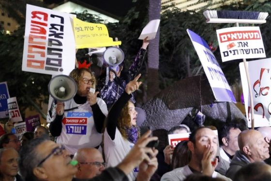 Israelis March Against Corruption Amid Netanyahu Probe