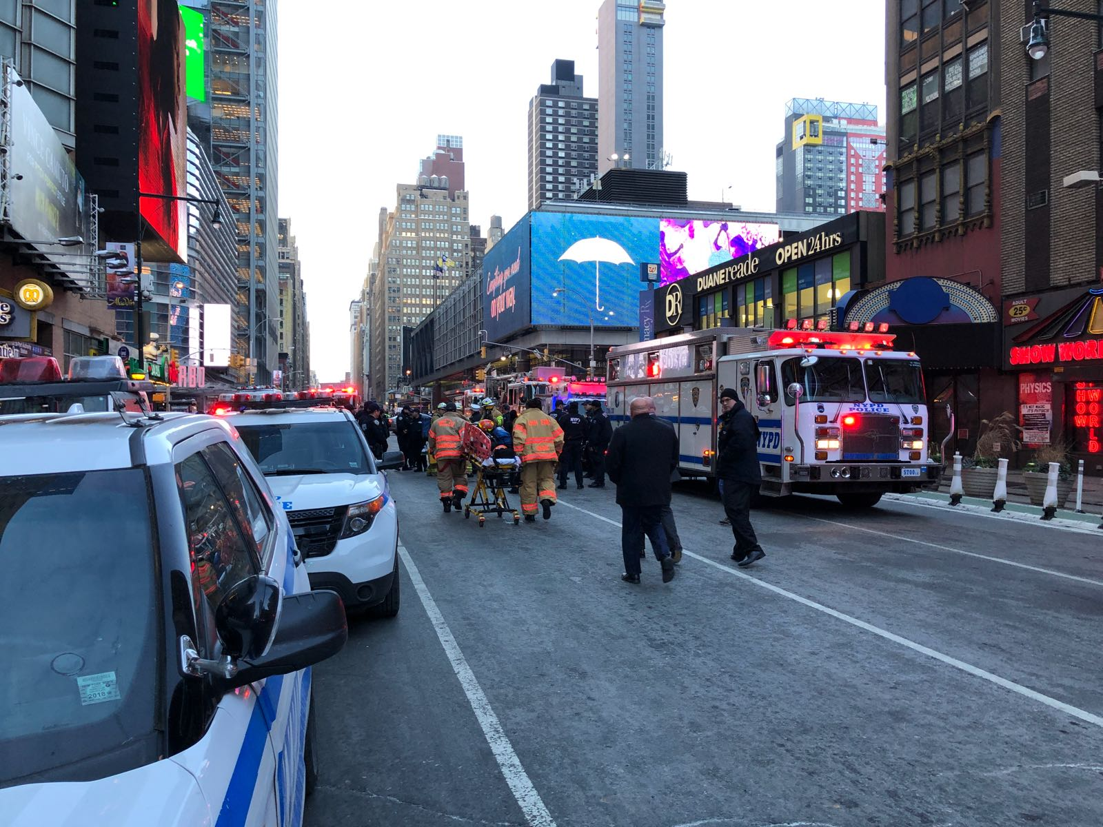 Explosion reported at New York City transit hub near Times Square