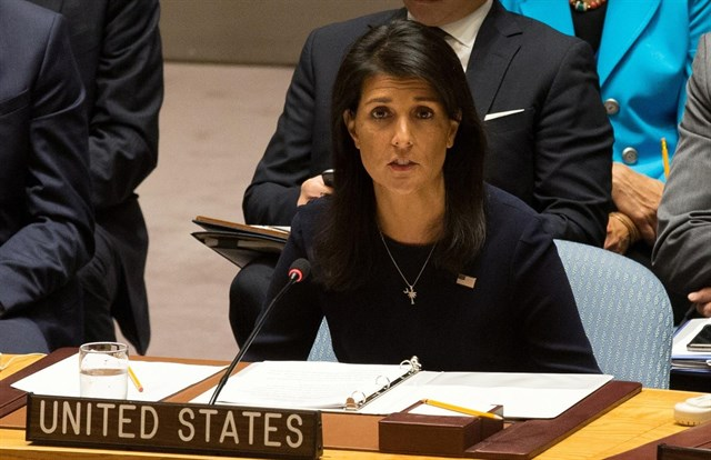 Haley insists USA  move on Jerusalem will 'move the ball forward'