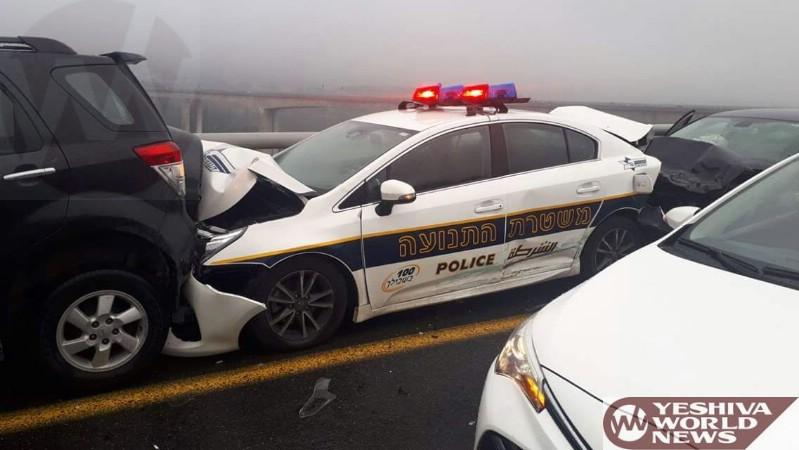 Video Israel Police Car Totaled As Motorist Was