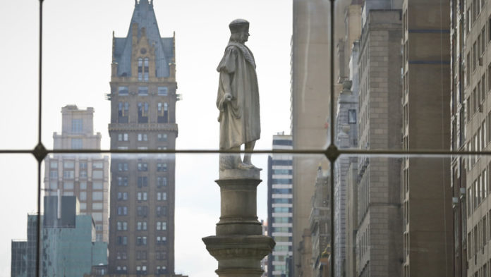 New York City statue being removed, but it's not Christopher Columbus