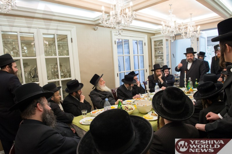 Photo Essay Rosh Chodesh Seuda In Honor Of The Skulener