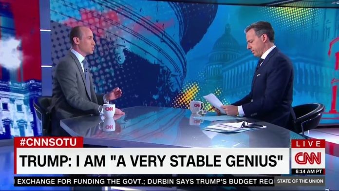 CNN's Jake Tapper cuts off 'obsequious' White House 'factotum' in contentious interview