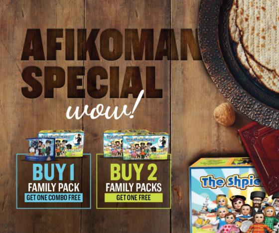 This Pesach Give The Ultimate Afikomen Present: Save On The Shpielmans Toy That Everyone Wants!