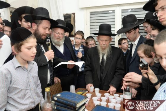 Photo Essay: Siyum Mesechta At The Home Of Hagaon HaRav Gershon Edelstein (Photos by JDN)