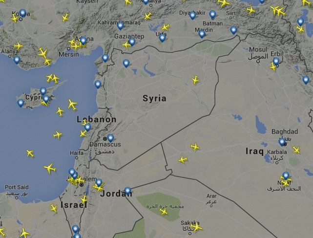 Eurocontrol warns airlines of 'possible military action' in Syria