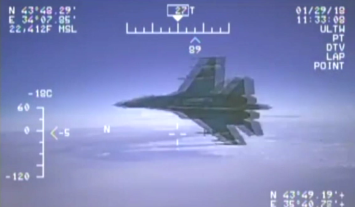 Russian Fighter conducts 'unprofessional' intercept of US Navy surveillance plane