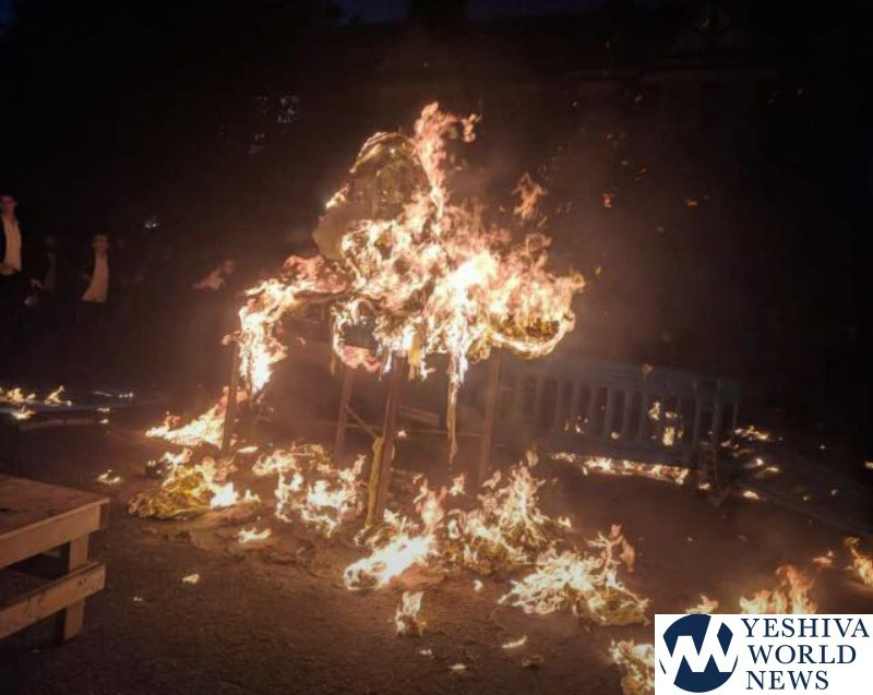 Ten injured in Lag BaOmer bonfire explosion in Stamford Hill