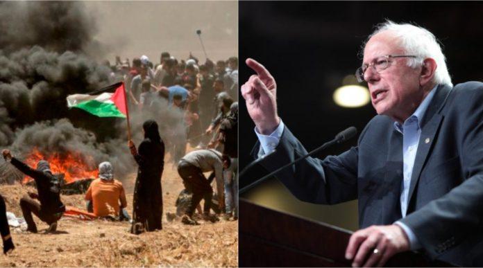 Watch Bernie Sanders Says Israel Should Be Condemned