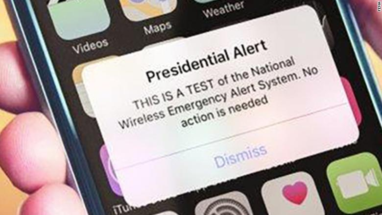 Emergency Presidential Alert Test Sounds Off On Cell