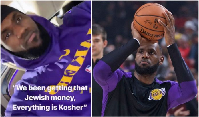 """f7b840378fe5 NBA superstar Lebron James has apologized for a social media post about  """"Jewish money"""""""