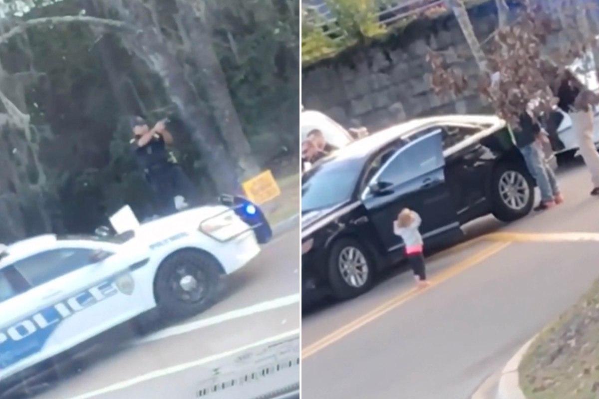 Viral Video Florida Police Point Gun At 2 Year Old Girl