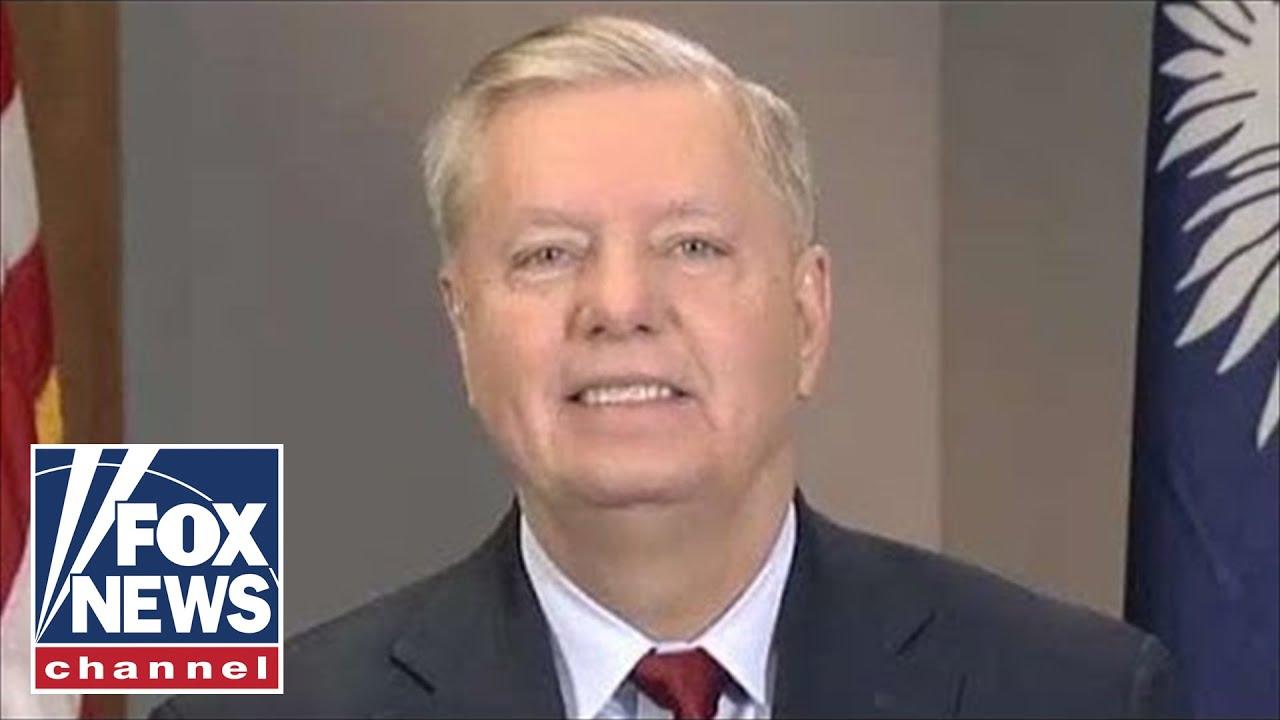 Watch Sen Lindsey Graham Urges Trump To Reopen