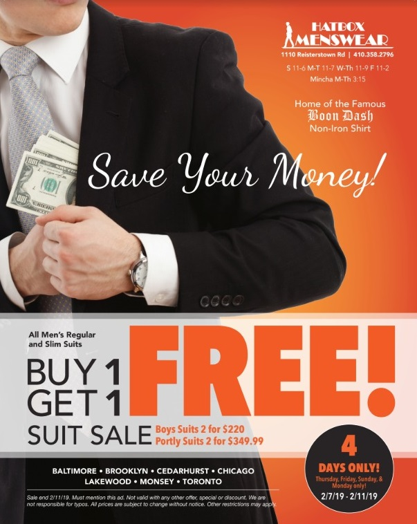 Buy 1 Get 1 Free on all Hatbox Suits  a552dd640423
