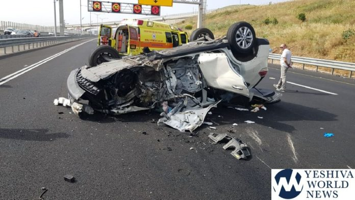 Major Crash On Way Back From Meron Leaves Five Injured – Two In
