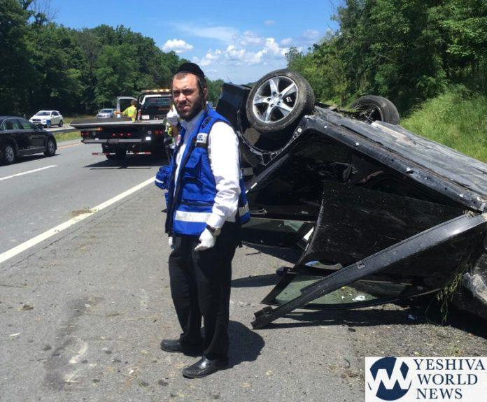 Overturned Car On NY State Thruway Snarls Traffic, Thursday