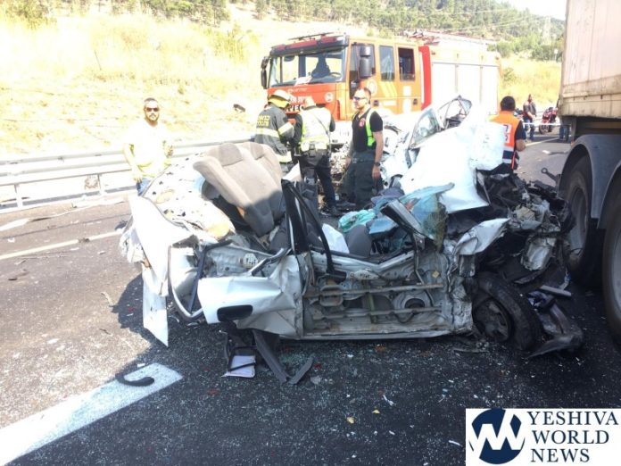 HORRIFIC CRASH: Tractor Trailer Crushes Three Vehicles On Israel's