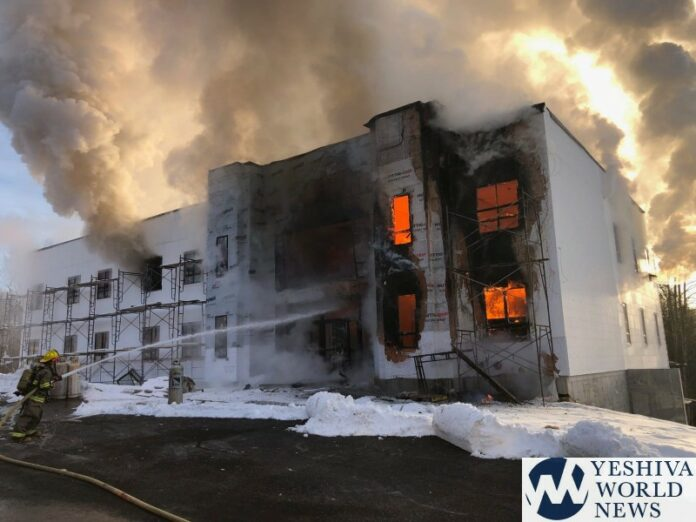 Massive Fire Destroys New Girls Building At Yeshiva Of