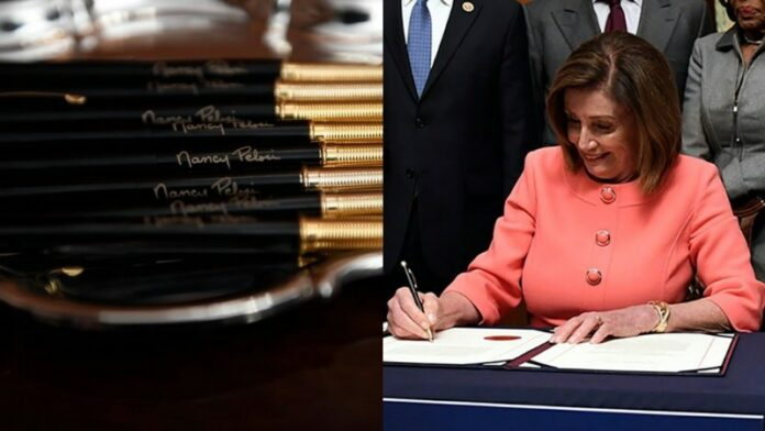 "WHAT A JOKE: Pelosi Hands Out Golden ""Impeachment Pens"" From ..."
