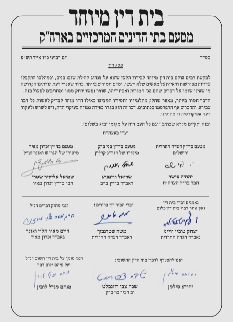 Three Chareidi Batei Dinim Rule that Eliezer Berland is Guilty and Should be Ostracized 2