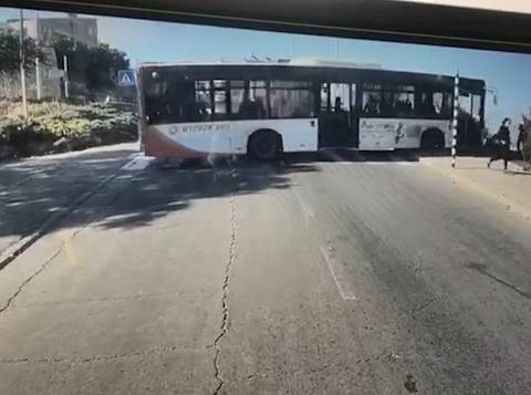 HEART STOPPING FOOTAGE: Miracle In Tzfat: Mass Tragedy Averted As Bus Almost Plunges Down Cliff 1